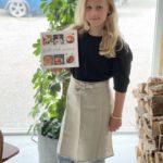 Skolestartsett- lin forkle og kokebok